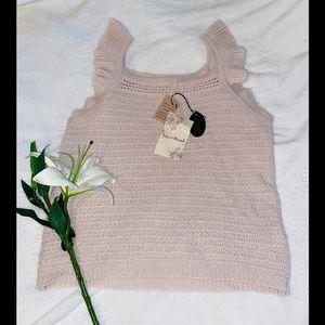 Hem & Thread sweater tank top sz S NWT!